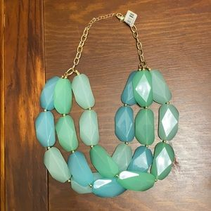 Tri-color Blue Stone Necklace